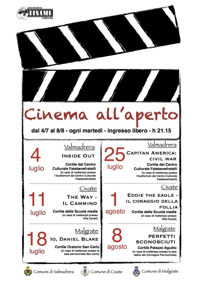 Film all'aperto 2017